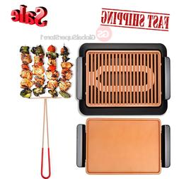 GOTHAM STEEL Smokeless Electric Grill Griddle and Pitchfork