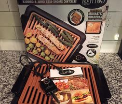 Gotham Steel Smokeless Electric Grill ,indoor BBQ - As Seen