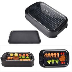 Smokeless Electric Indoor Grill BBQ Nonstick w/Grill Grate a
