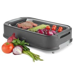 VonShef Smokeless Grill Electric Indoor Non Stick Portable B