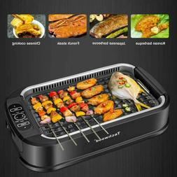 Techwood Smokeless Grill Electric Non-stick BBQ Plate for In