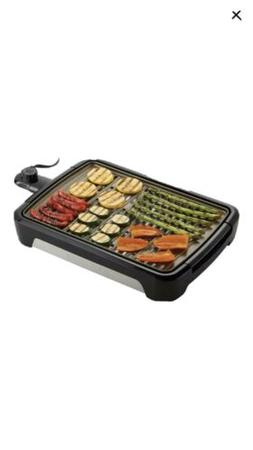 Smokeless Grill Indoor Set Kitchen 172 sq in Grease Drain Dr