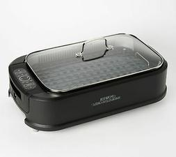 Power Smokeless Indoor Electric 1500W Grill w/ Griddle Plate