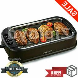 Smokeless Indoor Electric Grill Power 1200 Watts XL Non Stic