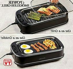 Smokeless Indoor Electric Grill POWER 1500 Watts XL Non-Stic