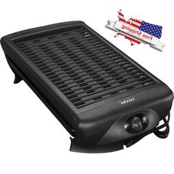 Smokeless Indoor Electric Grill Non Stick Bbq Cool Touch Large