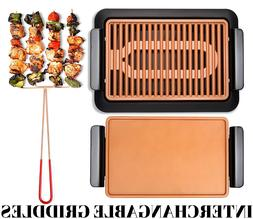 Smokeless Indoor Electric Grill Non-Stick BBQ INTERCHANGABLE
