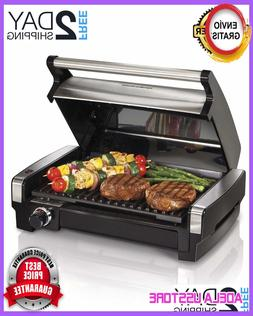 Smokeless Indoor Electric Grill with Removable Plates, One S