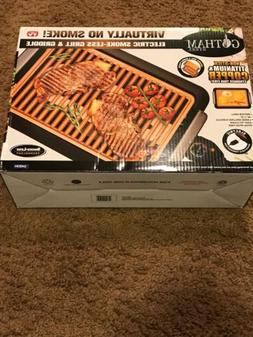 Gotham Steel Smokeless Indoor Grill Griddle 2 in 1 Combo As