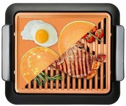 smokeless indoor grill griddle 2 in 1