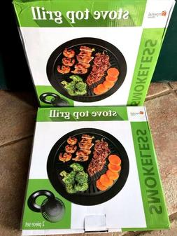 2 Pack Smokeless Indoor Stove Top Grill - Healthy Kitchen St