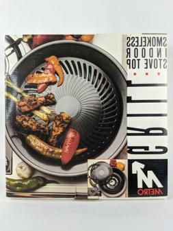SM NEW Smokeless Indoor Stove Top Grill Healthy Kitchen Stov