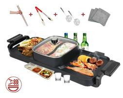 Soup and Grill Hotpot Grill Combo  Indoor Smokeless Korean B
