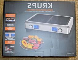 Krups Stainless Steel Digital Indoor Smoke Less Grill PG770D