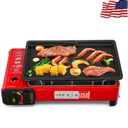 Stainless Steel Smokeless BBQ Grill Gas Stove Portable Outdo