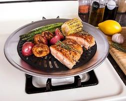 Kitchen + Home Stove Top Smokeless Grill Indoor BBQ - Stainl