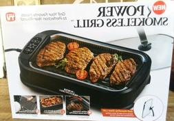 POWER SMOKELESS GRILL WITH TEMPERED GLASS LID AND TURBO SPEE